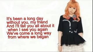 J fla -See You Again & One Call Away [lyrics]
