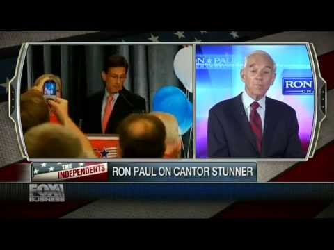 Ron Paul: I Never Saw Eye To Eye With Eric Cantor