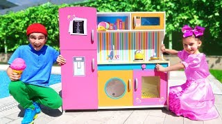 New TOY KITCHEN Play and Set Up | Super Day