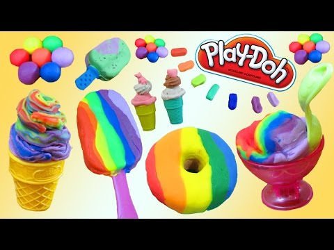 Play Doh Desserts, Ice Cream, Cakes, Donuts, Bakery How To DIY SUPER Video! thumbnail
