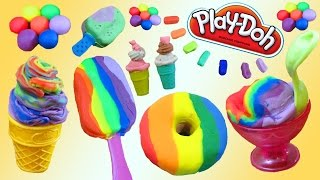 Play Doh Desserts, Ice Cream, Cakes, Donuts and Bakery SUPER Video!