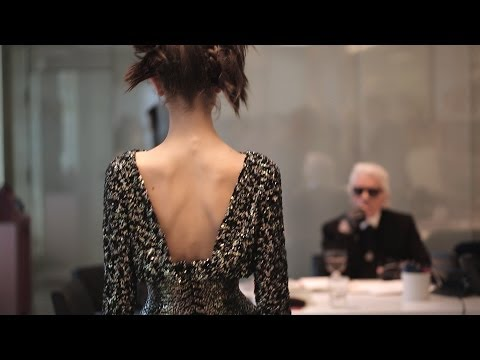 Fittings for the Spring-Summer 2014 CHANEL Haute Couture show