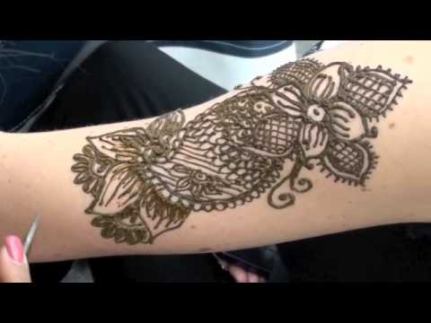 Howto Tattoo Upper Arm HENNA  YouTube