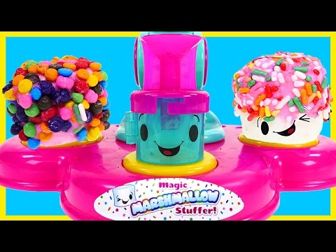 Magic Marshmallow Stuffer Machine! Making Sweet Stuff with Sprinkles Frosting Cookies & Candy DCTC