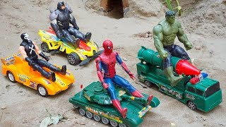 Military Vehicles Tank & Rocket Truck Spiderman Hulk Toys Rescue Construction Vehicles Toys for Kids