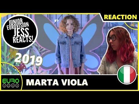 ITALY JUNIOR EUROVISION 2019 REACTION: Marta Viola - La Voce Della Terra | JESS REACTS!