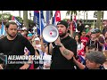 Los Pichy Boys protest in Miami asking for humanitarian help and military intervention in Cuba