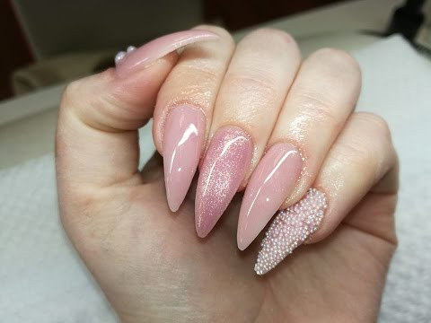 My nude nails with caviar [GEL NAILS]