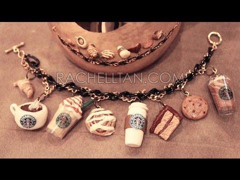 Starbucks Polymer Clay Charm Bracelet DIY