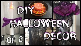 🎃 Dollar Tree DIY Halloween Decor | PART 1 🎃