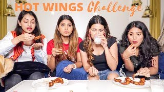 HOT WINGS CHALLENGE🔥w/ my sisters | Aashna Hegde
