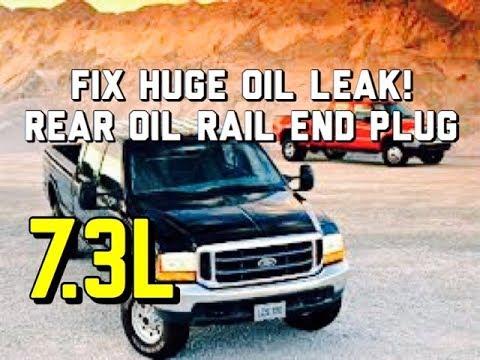 HUGE OIL LEAK 7.3L OIL RAIL PLUG FIX - Fix it for Good - 4C3Z-6026-CA - Ford Powerstroke
