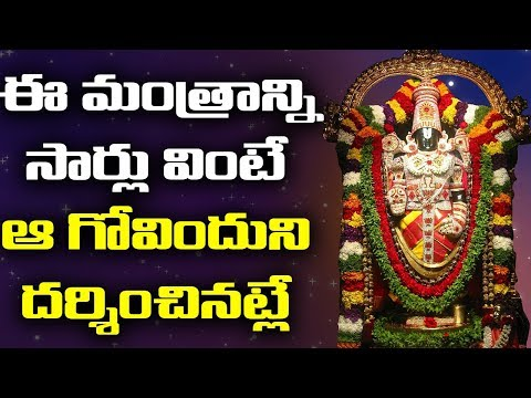 Lord Venkateshwara Songs - Sri Venkatesam Manasa Smarami - Bhakthi video