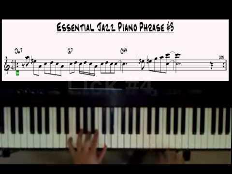 Jazz Piano Licks Excercises 1-5 Easy  II-V-I Phrases