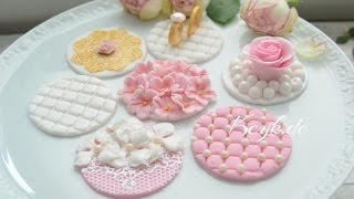 Hochzeits Cupcake Toppers aus Fondant
