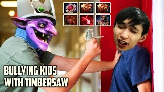 BULLYING KIDS WITH TIMBERSAW ◄ SingSing Moments Dota 2 Stream