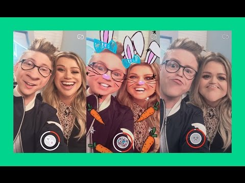 Snapchat Challenge with Kelly Clarkson | The Tyler Oakley Show thumbnail