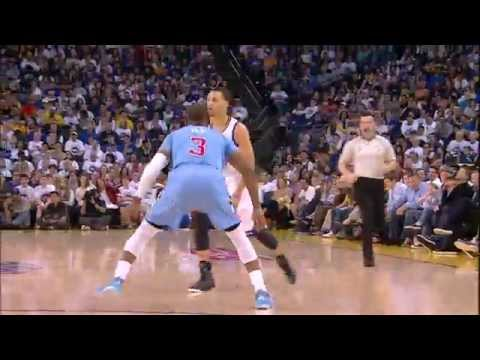 Stephen Curry Fakes out Chris Paul