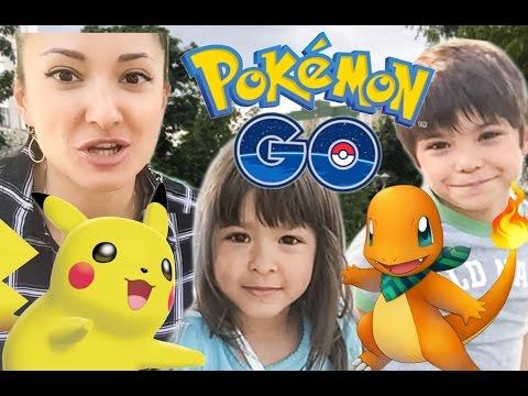 Pokemon Go! КАК ПОЙМАТЬ ПОКЕМОНОВ? Ловим Пикачу в Покемон Го и ищем в городе - видео на русском MGM