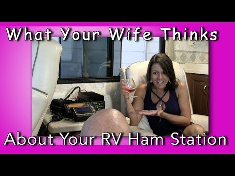 What your wife really thinks about  your RV Ham Radio Station. MFJ-915 Review K6UDA Radio
