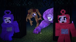 Po and Tinky Winky caught Slendytubbies (Minecraft machinima)