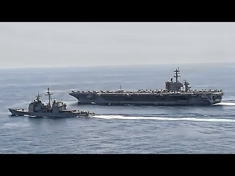 USS Theodore Roosevelt • U.S. Carrier Tracking Iranian Ships