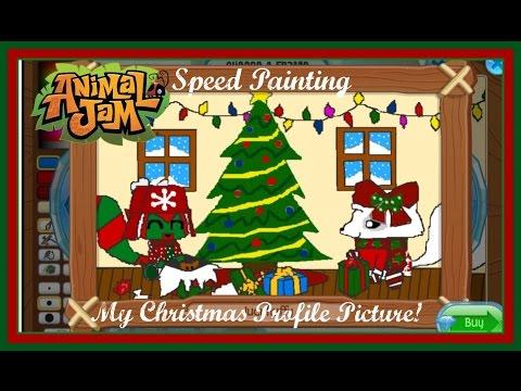 Animal Jam: Speed Painting My Christmas Profile Picture!