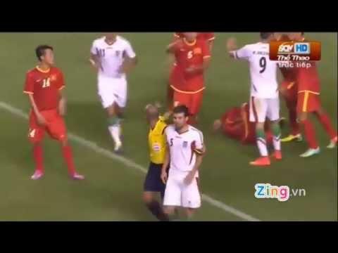 Ức chế với kết quả thua Olympic Việt Nam :D   Cầu thủ Iran nổi nóng đánh Mạc Hồng Quân! Đẹp mặt Iran =))