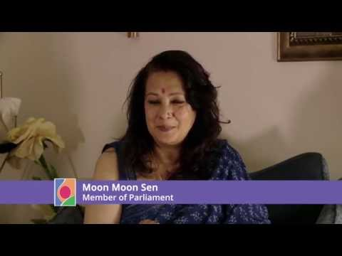 Moon Moon Sen wears a pink bindi for  Fight4theFoetus