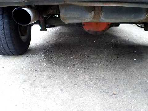 Dual exhaust 6 cylinder sound Video