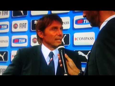 Intervista Antonio Conte dopo la partita Italia Olanda