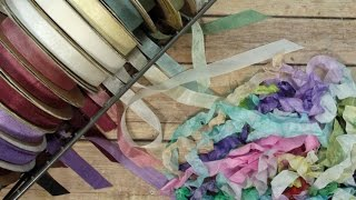 How I Color, Crinkle, & Store Seam Binding