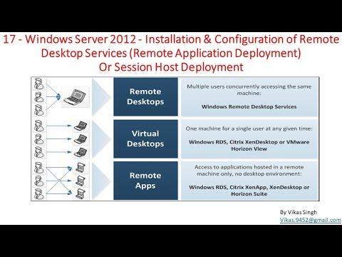 17 - Windows Server 2012 – Installation & Configuration of RDS (Remote Application Deployment)