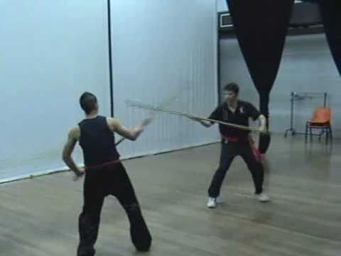 Southern Praying Mantis Kung Fu (Chow Gar): Staff Fighting Image 1