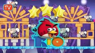 Angry Birds Rio - Part 11 Carnival Upheaval Level 01 - 05 Tree Stars - Gameplay Walktrough