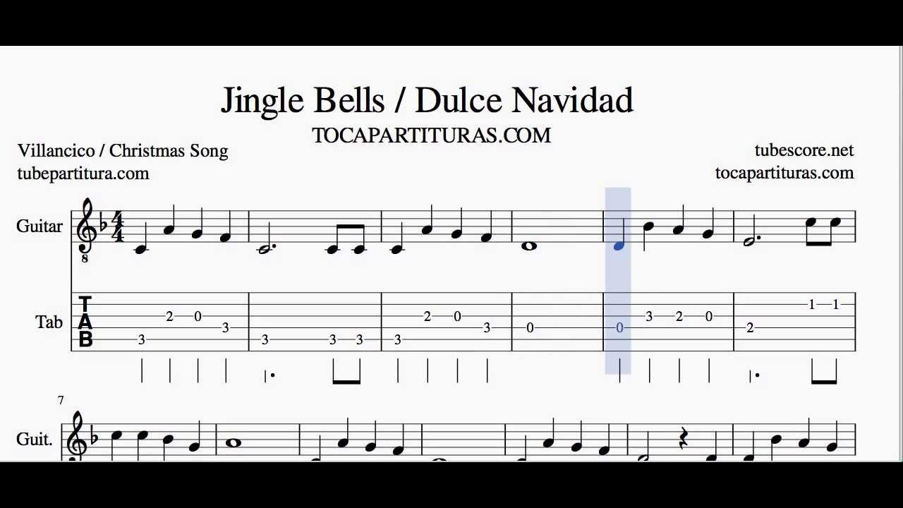 Mandolin tabs jingle bells