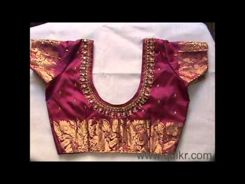stylish embroidery hand and neck blouse designs part 1 of 6