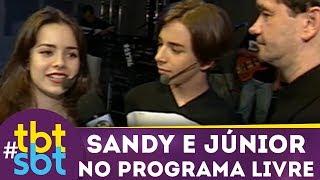 Programa Livre mostra bastidores de show incrível de Sandy e Júnior | tbtSBT (1998)