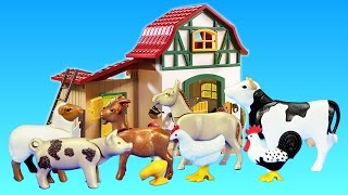 Playmobil Farm Animals Toys Barn Building Sets Videos Collection For Kids