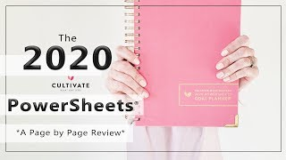 *NEW 2020 PowerSheets * | Set Yourself up for Goal Achieving Success! |  A Page by Page REVIEW