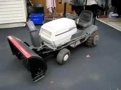 1996 White Mtd 40 Quot Tractor Snowblower Youtube