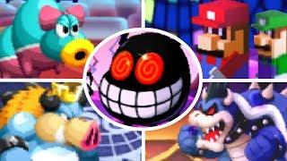 Mario & Luigi: Bowser's Inside Story 3DS - All Bosses (No Damage)