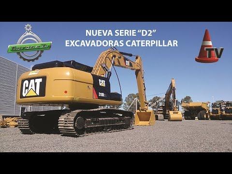 TEST Nuevas Excavadoras CAT Serie D2 - Mercado Vial TV