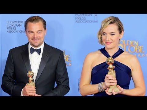 Kate Winslet and Leonardo DiCaprio's Golden Globes Reunion Was Too Cute