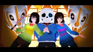 [MMD ? Undertale] - Megalovania - (Full Animated Fight)