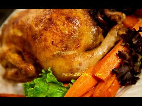 Stuffed Chicken Morgh e Shekam Por (Chicken Recipe)