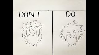 Do's and Don'ts in drawing male anime hair