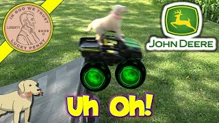 John Deere Monster Treads Truck & Tractor - Butch Flies!