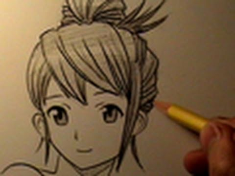 How to Draw Manga Hair, 4 Different Ways - YouTube