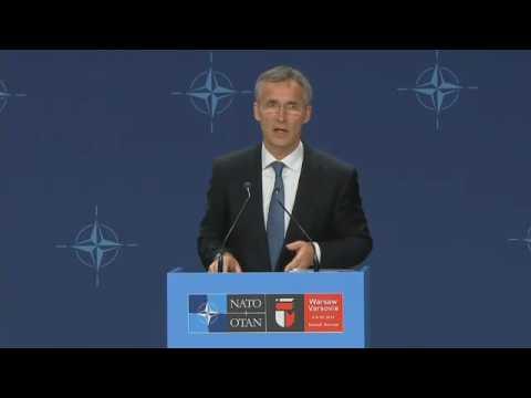 2016 NATO Summit – Jens Stoltenberg Press Conference